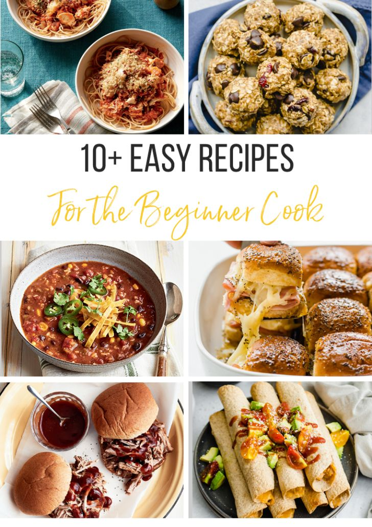 10 Easy Recipes For The Beginner Cook Thriving Home In 2020 Cooking For Beginners Recipes Easy Meals