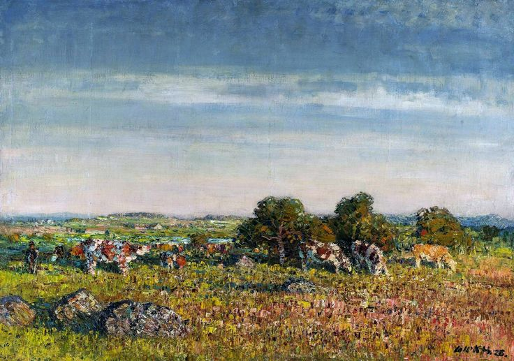 Landscape with cattle by Stanislav Lolek, 1925 (PD-art/70), Muzeum Narodowe w Warszawie (MNW)