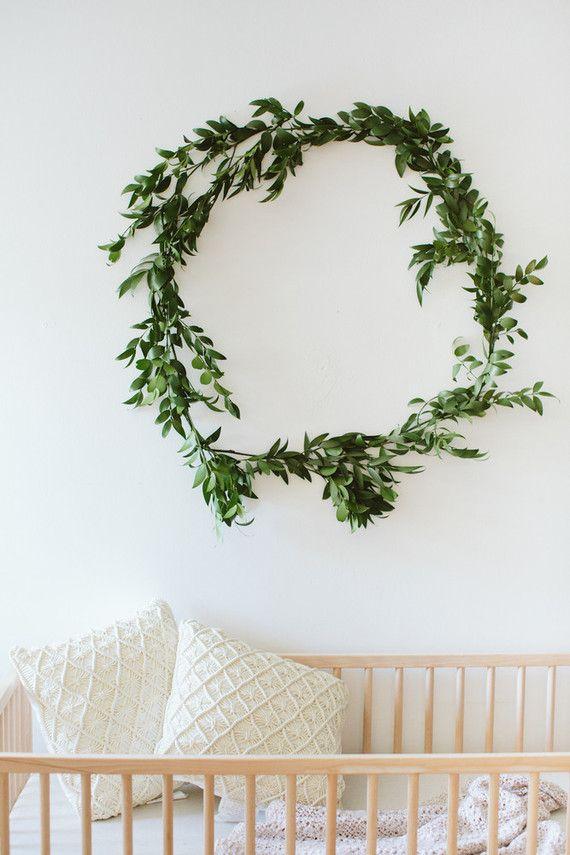 simple wreath for nursery
