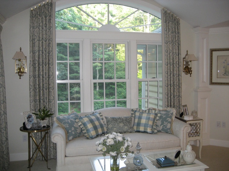 master bedroom arch window treatment arched windows