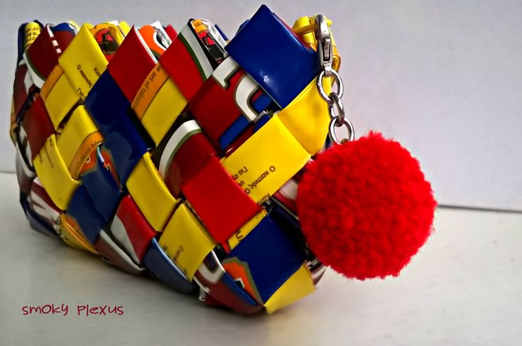 Excited to share the latest addition to my #etsy shop: coin wallet, handmade wallet, upcycling, recycled plastic, woman 's gift, red, blue, yellow, eco craft, handbag, upcycled, handcrafted http://etsy.me/2C3YLYE #bagsandpurses #handmadewallet #recycledplastic #handcra