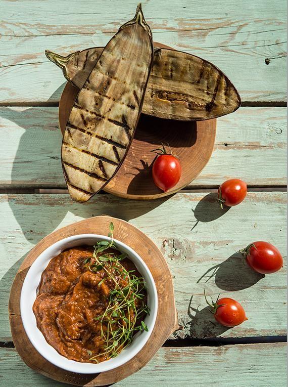 Pasta z grillowanego bakłażana z octem winnym #grill #dodatki #przepisy #pasta #kanapki #bakłażan #POLOmarket