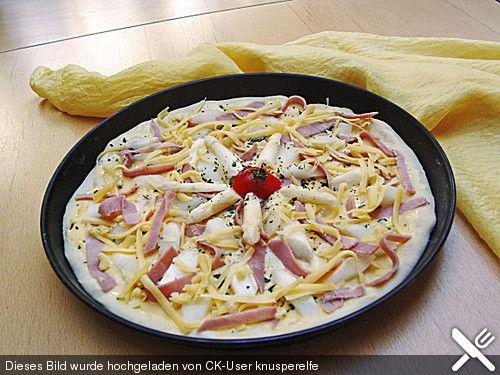 Ingrids Spargelpizza (Rezept mit Bild) von souzel | Chefkoch.de