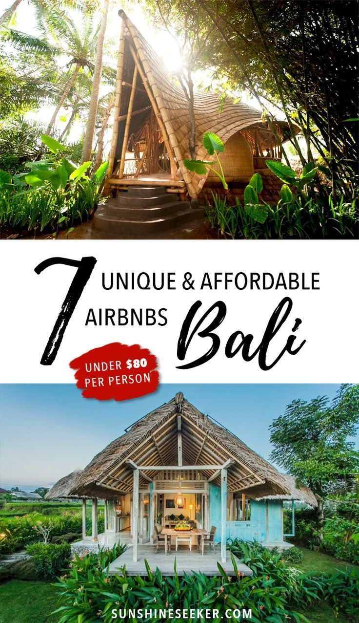 Includes $35 gift voucher! Make your holiday in Bali even more special by staying in one of these incredible houses! All under $80 per person a night! #BaliDestination