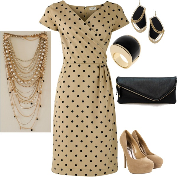 """Mixing it up just a little...this is for the working woman...I've had some requests for more """"career-oriented"""" outfits, so I am posting this for all the 9-5'ers out there:) There are so many things you could do with this dress...neutral colors are so versatile."""