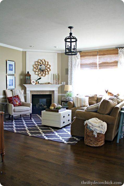 What We Need To Do Our Living Room Lighten Up The Walls Thrifty Decor ChickCorner FireplacesThe
