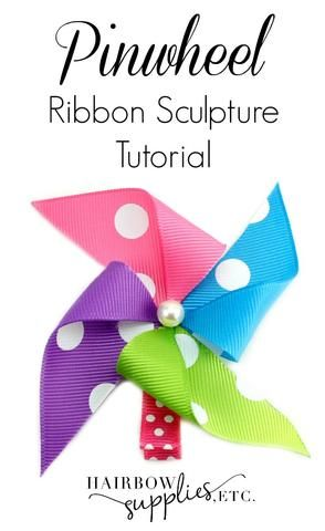 This video describes how to make a pinwheel ribbon sculpture. Super fun, cute! Adorable to match that summer outfit! These are…