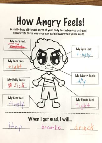 Anger Management Worksheet To Help Students Learn To