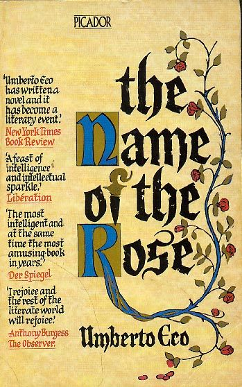 [The Name of the Rose - Umberto Eco] A medieval murder mystery that illustrates the post-modern mantra of perpetual referentiality...It so could have bombed, but ended up on the best-seller list! I feel that even if a UFO had crash landed into the monastery and Aristotelian texts were found in the wreckage, Eco would have found a way to make it believable. That's how clever Umberto is!