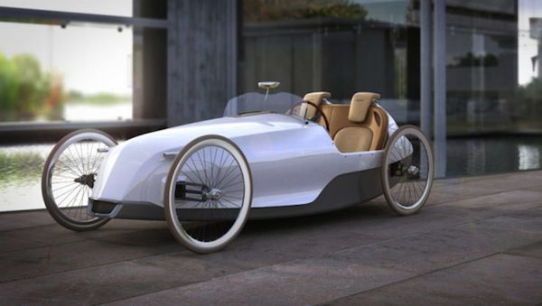 Does driving a car make you feel lazy? Well, you're in luck. The Biposto is a 2-seater pedal-powered car.