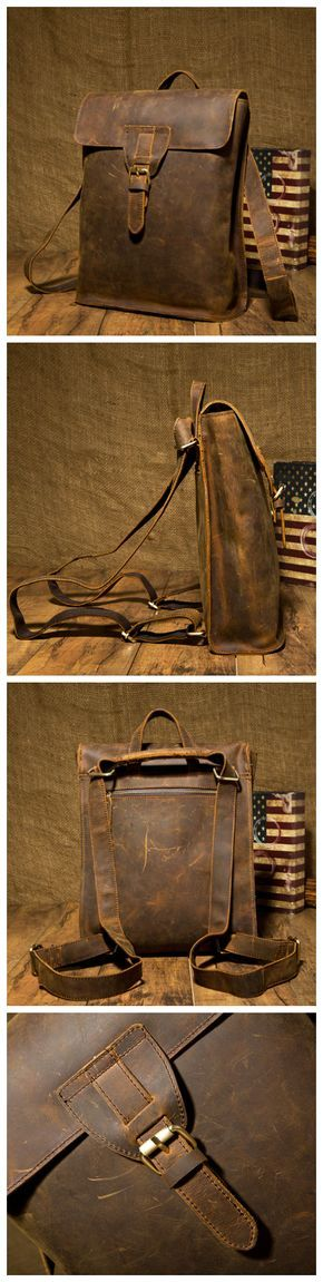 #Briefcase 2-in-1 Leather School Bag #Backpack                                                                                                                                                                                 More