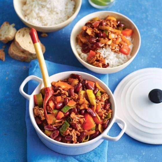 Het recept van de dag is: Chili con carne met paprika en prei!