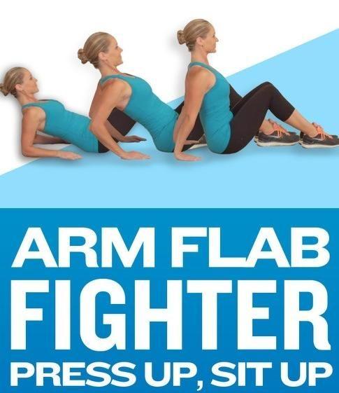 Arm Flab Fighter, Press Up, Sit Up #Health #Fitness #Trusper #Tip