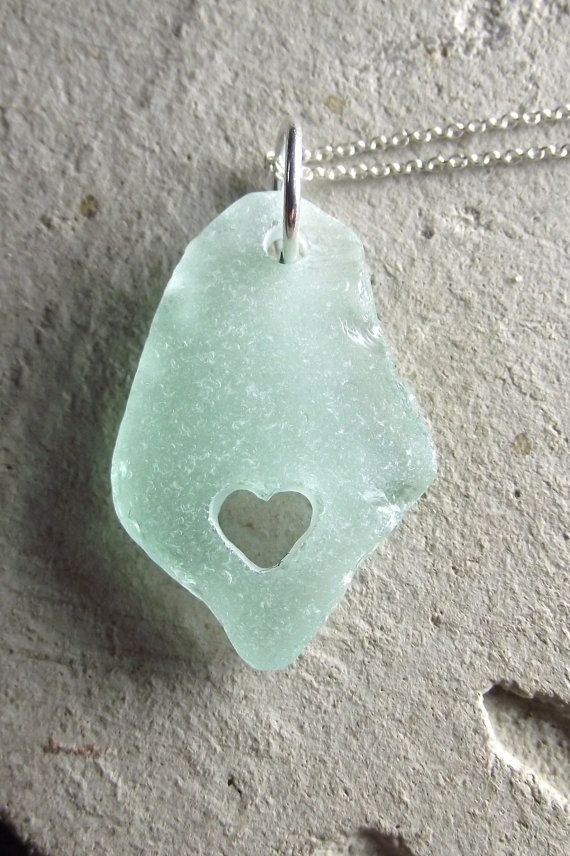 Beach glass with hearts...amazing