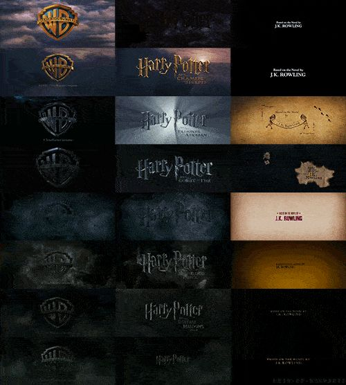 When someone put together the intros and ends to every Potter movie made. I find it sad the intro just gets darker and darker.