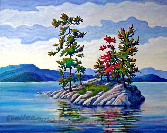 "Killarney Island     ""Killarney Island ""  18 x24  Acrylic on canvas"