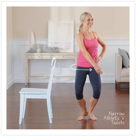 I love standing core work. Check out this move from my book Love Your Lower Body.