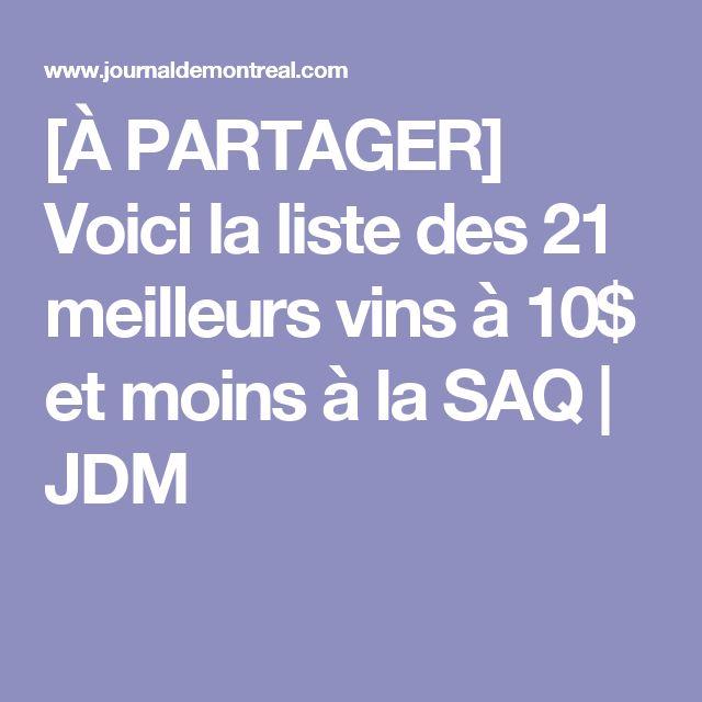 [À PARTAGER] Voici la liste des 21 meilleurs vins à 10$ et moins à la SAQ | JDM