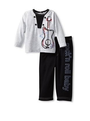 46% OFF Rumble Tumble Baby 2-Piece Set (Grey and Black)
