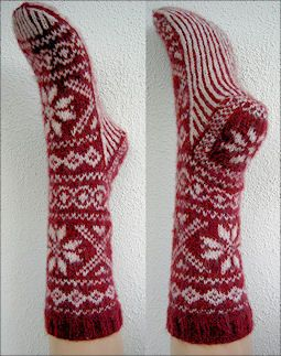 Nordic style from a Dutch company ~ Visit wolhalla.nl who have their sock patterns in 4 languages and range from 3ply, 4ply and 8ply sock patterns.