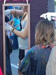 Colored Hairspray Carnival Booth - fun carnival activity for kids NOTE: wear gloves, use apron. have mirror