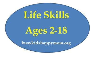 Life Skills for Kids - the ones they need to be successful in life: Age 2 18, Idea, For Kids, Skills Lists, Adult Life, To Work, Age Appropriate, My Children, Life Skills Kids