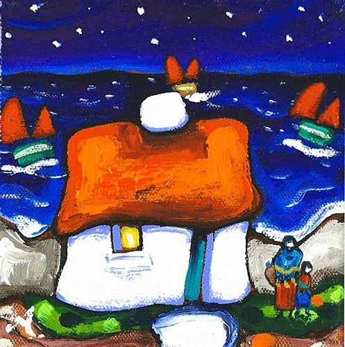 "Annie Robinson ""Dream of Long Ago"" #nightime #sea #dreams #irishart #DukeStreetGallery"