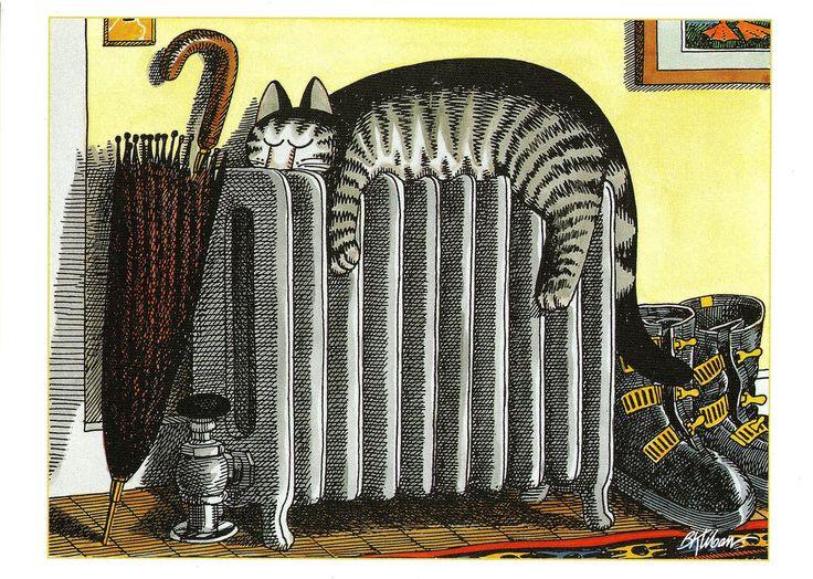 striped cat, by B. Kliban | Flickr - Photo Sharing!