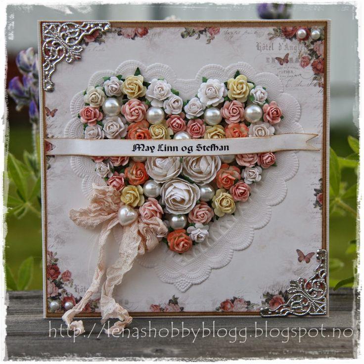 romantic wedding card by Lena