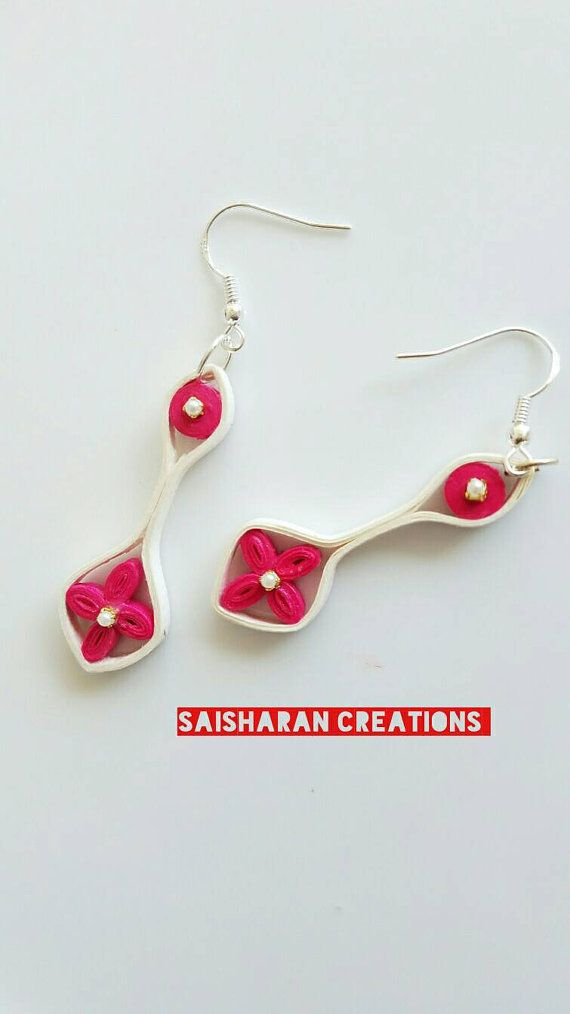 Quilling Earrings Paper Quilling Jewelry  by papersandpassions