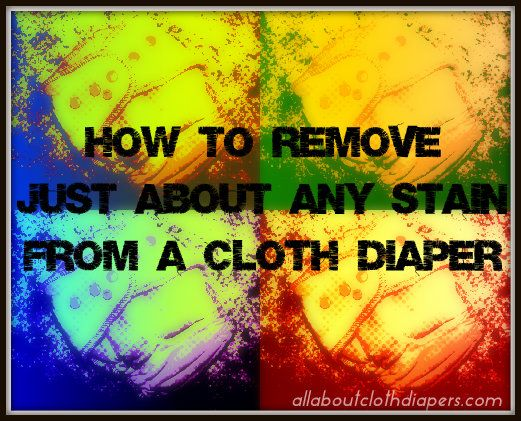 how to clean poop stains from clothes