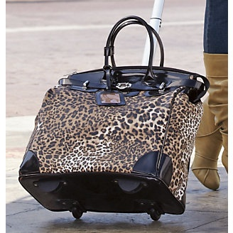 of course I love this, my only beef is ...why did they use a white pull? not cool!: Leopards Patterns Bags, Purses Bags Travel Stuff, Rocks Stars, Midnight Velvet 16, Leopards Bags, Bags Lady, 119 95 Travel, Rollers Leopards, Lady Bags