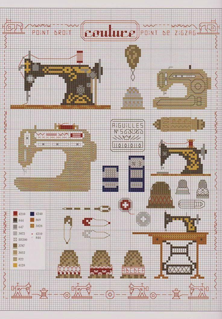 Oiiii!!   Passando rapidinho pelo blog para postar   estes lindos gráficos acessórios de costura   para bordar ponto cruz. ...