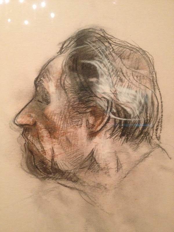 Sherri McGraw,  sketch of David Leffel