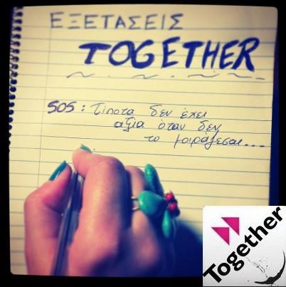 Join TOGETHER on Facebook : https://www.facebook.com/pages/Together/348011031980552?group_id=0