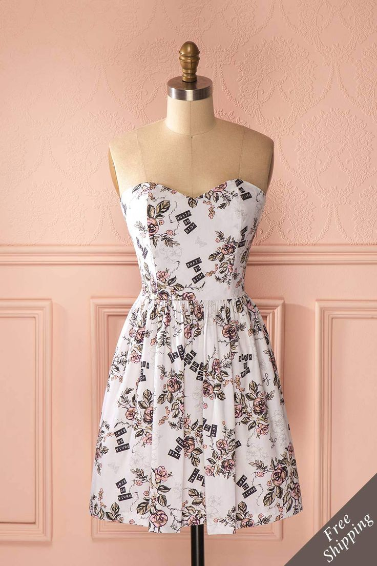 Avez-vous trouvé votre robe de festival d'été? À Montréal, Paris ou Tokyo, vous éclipserez la musique et brillerez! Did you find your summer festival dress? In Montreal, Paris or Tokyo, you will shine and steal the show! Floral print bustier dress www.1861.ca