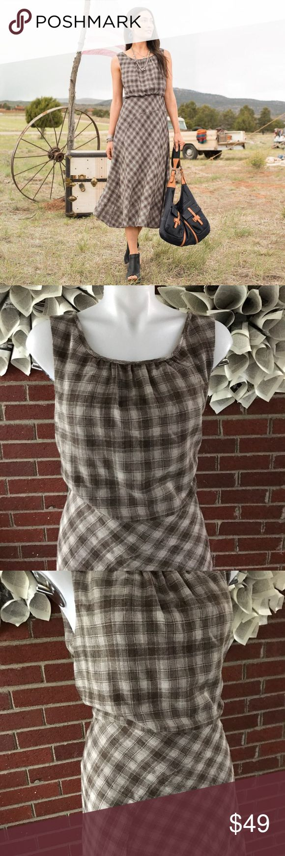 SUNDANCE North Fork Plaid Midi Dress Please see photos for all measure! Sorry I do not model/trade!! This item comes from a smoke free, pet friendly home!! No rips, holes or stains to note!! I ship Monday-Friday to ensure quick delivery (orders placed after 7am will not be processed until the following day). Orders placed Saturday/Sunday will not be processed until Monday morning :)! Thanks for shopping my closet JA9 Sundance Dresses Midi