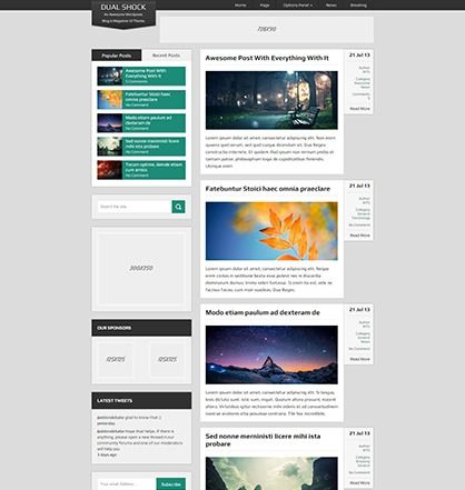 Free WordPress Blogging Theme for Free #onselz