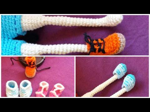 Zapatos para Muñeca a Crochet - Modelo #1 - YouTube