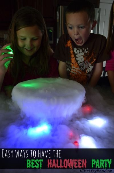 Dry Ice Fog, EASY HALLOWEEN Party ideas that will make you have the best party ever, fun games for kids on Halloween, where to get dry ice