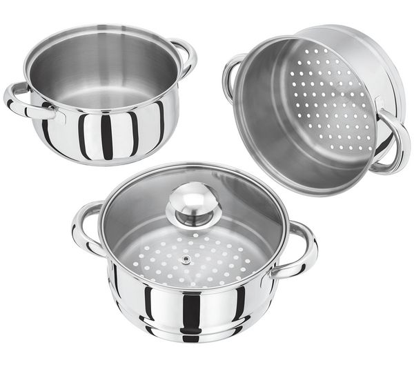 Buy JUDGE VISTA Basics HX02 18 cm 3-Tier Steamer - Stainless Steel   Free Delivery   Currys