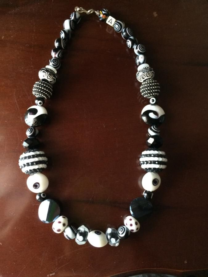 Black and White - Jewelry creation by Andi