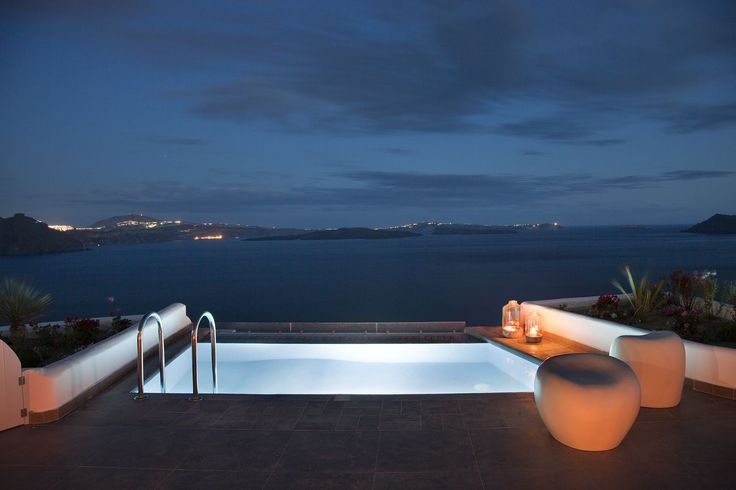 Only the best nighttime views at Santorini Secret Suites and Spa