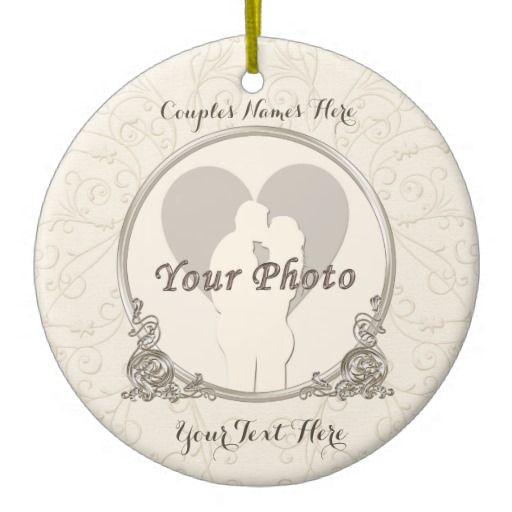 Elegant yet Inexpensive Wedding Gift Ideas with YOUR PHOTO, YOUR TEXT and MONOGRAM Wedding Ornaments with INSTRUCTIONS on how to upload YOUR PHOTO and type in YOUR TEXT.  Personalized Wedding, Bridal Shower Gifts and Inexpensive Engagement Gift Ideas.  CLICK HERE: http://www.zazzle.com/littlelindapinda/gifts?cg=196333266920191931&rf=238147997806552929  ALL of Little Linda Pinda Designs CLICK HERE: http://www.Zazzle.com/LittleLindaPinda*/
