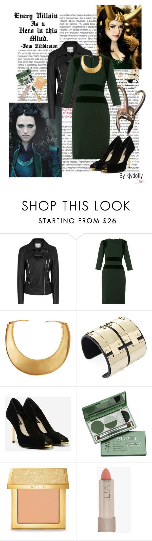 """Lady Loki"" by kjvdolly ❤ liked on Polyvore featuring Reiss, Alexander McQueen, Kenneth Jay Lane, BCBGMAXAZRIA, CHARLES & KEITH, DuWop, AERIN and Ilia"
