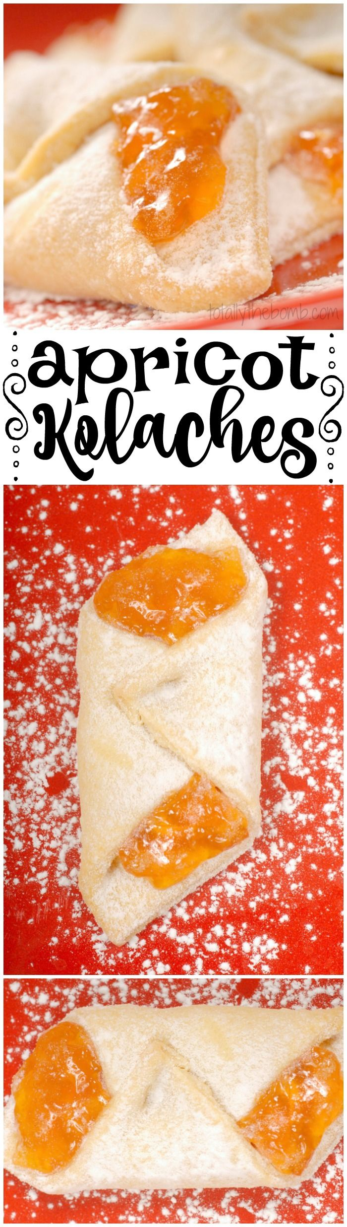 These apricot kolaches are completely delicious in pretty much every way.   #food #kolache #dessert totallythebomb.com
