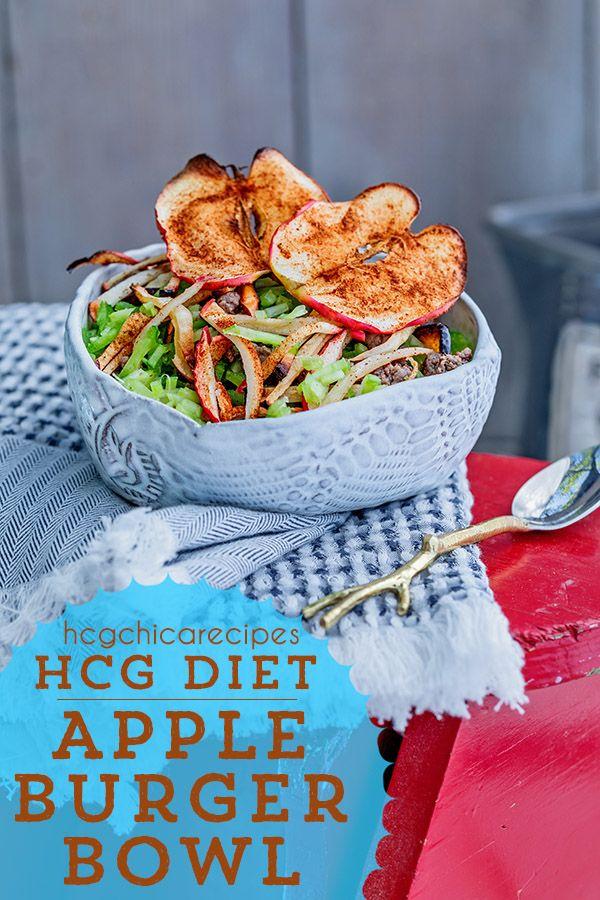Hcg Recipe Apple Burger Bowl Sp Ap Recipe Hcg Recipes Hcg