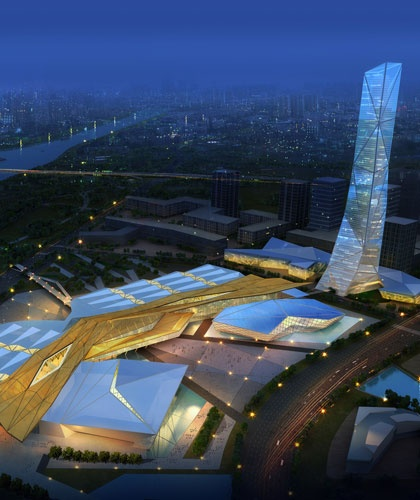 Shijiazhuang International Exhibition & Convention Centre by Woods Bagot -
