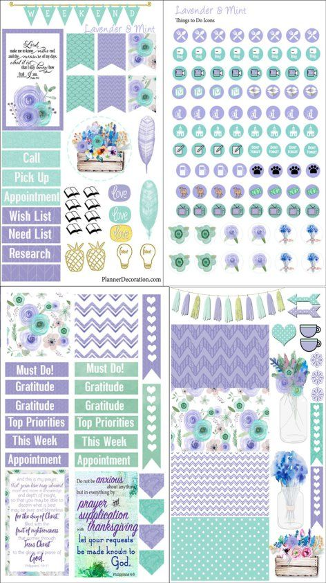 Free Planner Sample Stickers with Chore Check List. Getting Organized Can be Pretty! Includes a Bible verse card you can washi in your Bible or planner (or both). #planneraddict #plannerlove #biblejournaling #freeprintable