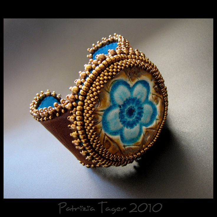 SALE 25 OFF  Flower Power  OOAK Turquoise Bronze and Brown by triz, $131.00